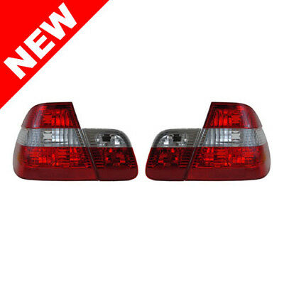 02-05 Bmw E46 3-Series 4Dr Sedan Euro Taillights - Red/clear/red