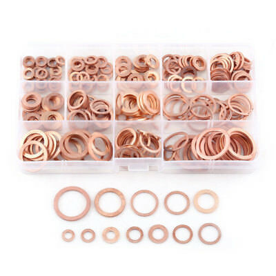 280pcs Professional Assorted Copper Washer Gasket Set Flat Ring Seal Assort T8G2