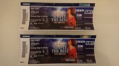2 TOP Tickets Simply The Best - Die Tina Turner Story (Musical)