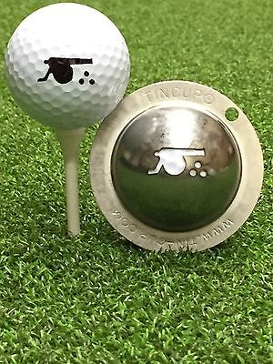 1 only TIN CUP GOLF BALL MARKER - CANNON - GUNNERS - ARSENAL