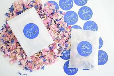 Natural Dried Petal Biodegradable Wedding Confetti 20 Packets Sticker & Petals