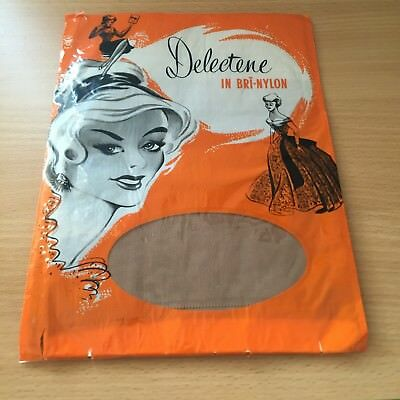 Ladies Vintage Seamed Stockings, New Original Fifties With Packaging, Delectene