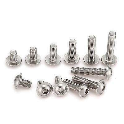 M3 (3mmØ) A2 Stainless Steel Flanged Button Head Bolts, Hex Socket Hex Screws
