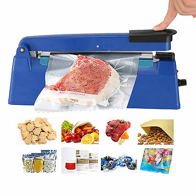 "8""/200MM Heat Sealing Hand Impulse Poly Sealer Closer Machine W/ Element Grip"