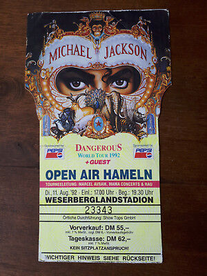 Michael Jackson Konzertkarte Dangerous World Tour | Hameln 1992