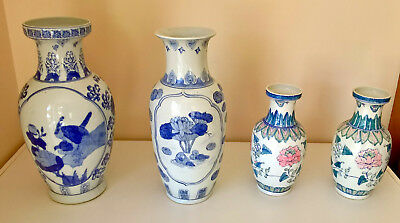 Chinese Ceramic Vases, Traditional Designs in Near New Condition