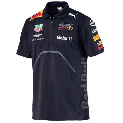 Aston Martin Red Bull Racing F1 Puma Team Polo Hemd Offiziell 2018