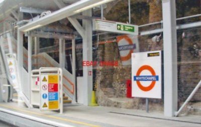Photo  Whitechapel Railway Station London E1 2010 Southbound Platform (No. 6) Se