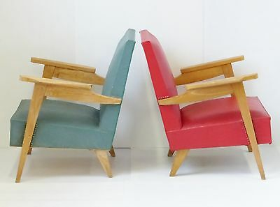 PAIR OF ARMCHAIRS YEARS 50 VINTAGE 1950 vintage ROCKABILLY 50's CHAIRS
