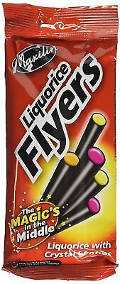 Maxilin Liquorice Tubes with Assorted Crystal Centers 95 g Pack of 6