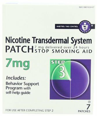 Novartis  NicotineTransdermal System Patche 7mg Step 3 7 E (4 Packs)