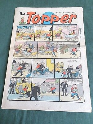 THE TOPPER  - UK COMIC - 8th AUGUST 1970 - # 914