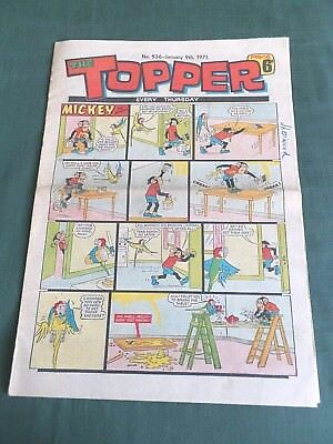 THE TOPPER  - UK COMIC -  9th  JANUARY 1971 - # 936