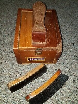 Shoe Shine Box With Two Brushes