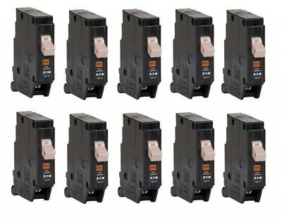 **Lot Of 10** Eaton CHF130 Type Ch 30-A 1-Pole Standard Trip Circuit Breaker NEW