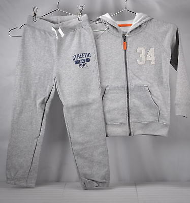 Carter's Big Boys Fleece Hoody and Pants Set - GREY