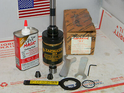 """Tapmatic 30X Reversible Tapping Attachment, 1/2""""Shank, 2 collets,Wrenches"""