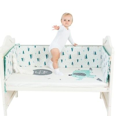 Baby Crib Bumper Infant Nursery Cushion Toddler Bed Cot Mat Protector 120*30cm