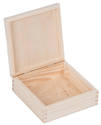 Small Plain Wooden Box Case for Jewellery Gold Silver Rings Chains Europe