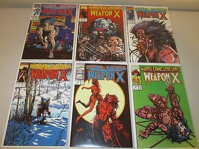 Marvel Comics Presents #75-80  FN+  (Lot of 6, Weapon X, Wolverine) 76 77 78 79