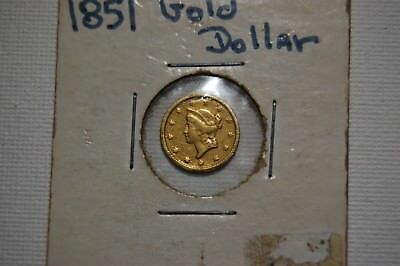 1851 Gold Dollar No reserve