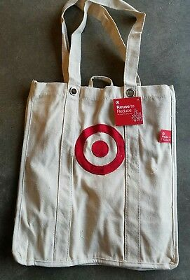 Target Reusable Canvas Shopping Tote Bags For Groceries Bag Grocery (1) Single