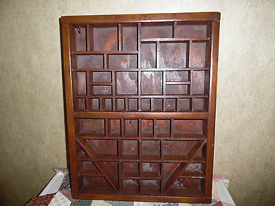 Antique Wooden Shadowbox Display Tray
