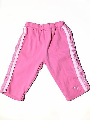 Puma Baby Girls 3-6 Months Sweatpants Pink Pre Owned