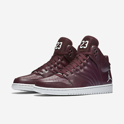 Nike Jordan 1 Flight 4 (820135-600) Mens Basketball Shoes Burgundy