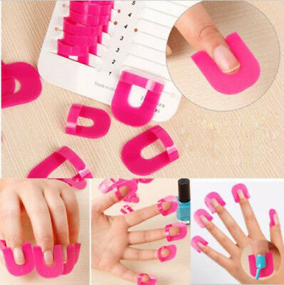 26 Manicure Finger Nail Art Case Design Tips Cover Polish Shield Protector Tool