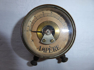 Amperemeter historisches Messgerät Messing steampunk