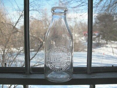 Early Goldenrod Farms Milk Bottle Revere Everett Mass., As Is