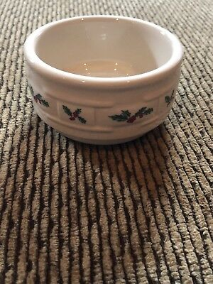 Longaberger traditional holly pottery Berry Bowl
