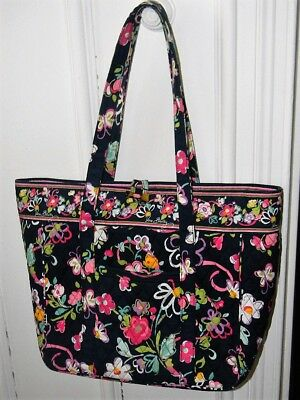 """Vera Bradley 17"""" TOTE Laptop Computer Case Briefcase Bag """"Gently Used"""" Ribbons"""