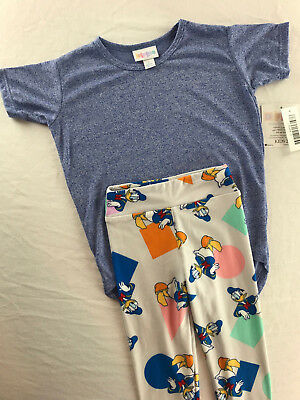 Kids Outfit, Disney Donald Duck S/M Leggings Shapes, Gracie Size 2 Blue LuLaRoe