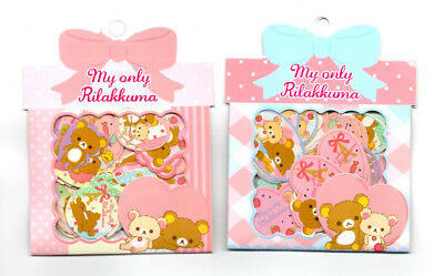San-x Rilakkuma Kawaii Bear Sticker Sack Pack flakes Lot Japan New