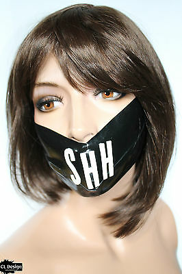 CL Design Latex Maske Unisex Medical Silence Mask Kopfumfang 50-70cm Rubber