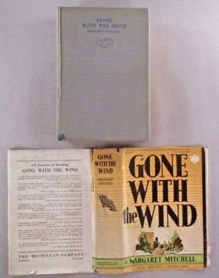 Gone With The Wind - Margaret Mitchell - 1936 1st Edition August Printing ~ dj
