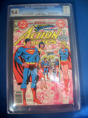 1979 * ACTION Comics #500 * DC * CGC 9.6 NM+ * Rare WHITE Pages LIFE of SUPERMAN