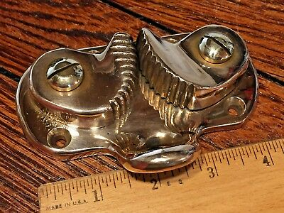 Vintage New Old Stock Bronze Abi? Cam Cleat With Heavy Duty Bronze Fairlead Base