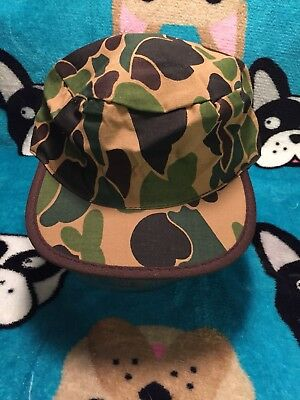 Vintage Military Camouflage Painter's HAT SnapBack Rare Fitted Paintball Bape !!