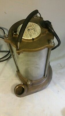 Kenco 1/2 HP  Stainless Steel and brass Utility Pump.  Solid working pump