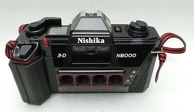 Nishika N8000 35 mm Quadrascopic Stereo 3D Lenticular Camera - Nice!