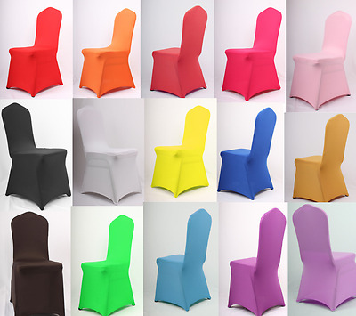 1-100 Chair Cocer Covers Spandex Lycra Wedding Banquet Anniversary Party Decor