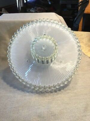 Antique Vintage Boopie Glass Ceiling Light Shade Cover ~ 3 Hole Mount