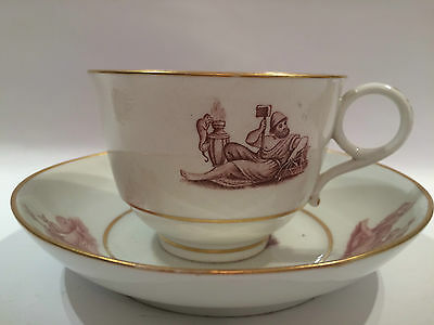 Antique Barr Flight & Barr Worcester Porcelain Cup and Saucer