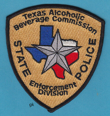 Texas State Police Alcoholic Beverage Commission ( Abc ) Alcohol  Shoulder Patch
