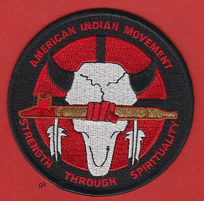 American Indian Movement  Aim Strength Through Spirituality   Shoulder Patch