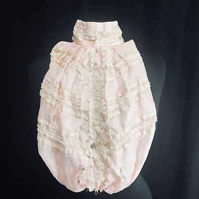"""Antique Vintage Estate Pink and Beige Dickey Collar- """"As Is"""""""