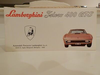 Lamborghini Islero GTS Factory Sales Brochure Folds Out Into A Picture Poster